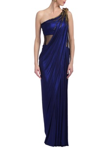 electric-blue-embellished-sari-gown