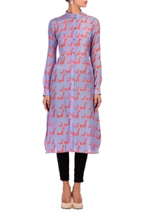 lilac-pink-animal-printed-tunic