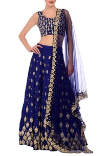 royal-blue-silver-motif-embroidered-lehenga-set