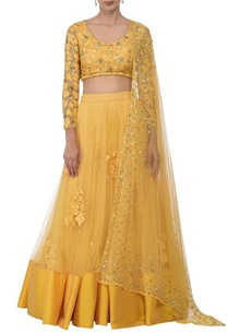 canary-yellow-floral-embroidered-lehenga-set