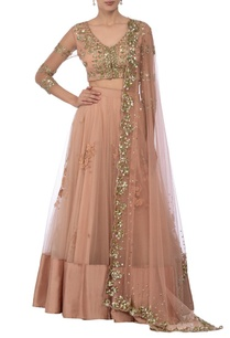 blush-pink-floral-sequin-embellished-lehenga-set