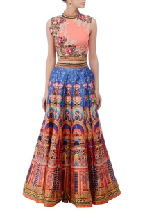 peachy-pink-embroidered-lehenga-set