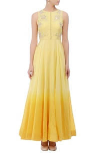 lemon-yellow-shaded-floral-embroidered-anarkali-set