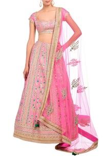 carnation-pink-embroidered-lehenga-set