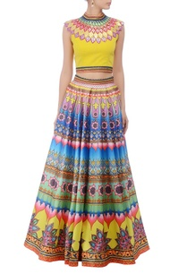 yellow-multcolored-lehenga-set