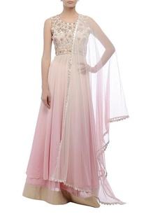 pink-lehenga-with-embroidered-kurta