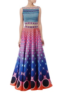 sky-blue-printed-lehenga-set