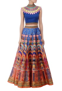 deep-blue-multicolored-lehenga-set
