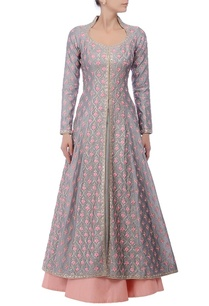 grey-pink-floral-embroidered-lehenga-set