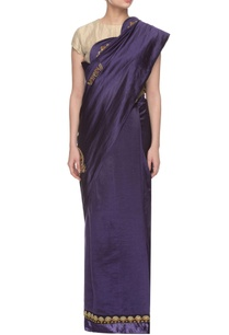 dark-blue-embroidered-sari