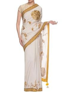 ivory-chrome-yellow-embroidered-sari