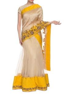 beige-chrome-yellow-embroidered-lehenga-sari