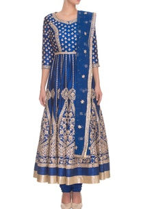deep-blue-gold-gota-embroidered-anarkali-set