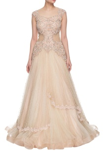 light-peach-embellished-layered-gown