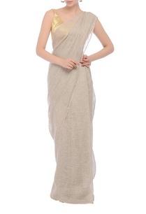 grey-textured-handwoven-sari