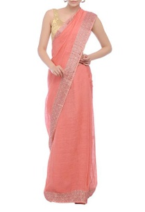 pink-and-red-jacquard-border-handwoven-sari