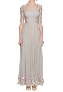 grey-dress-with-floral-embroidery