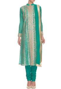 deep-seagreen-gold-gota-floral-embroidered-kurta-set