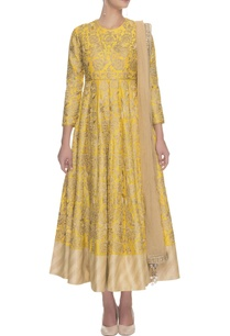 canary-yellow-gold-floral-embroidered-anarkali-set