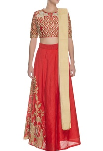 red-floral-elephant-embroidered-lehenga-set