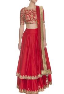 crimson-gold-floral-embroidered-lehenga-set