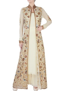 cream-jacket-with-spaghetti-kurta-pants