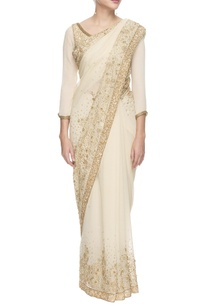 white-and-golden-sequined-chiffon-sari-with-blouse