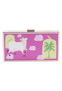 pink-digital-printed-clutch-with-sling-chain