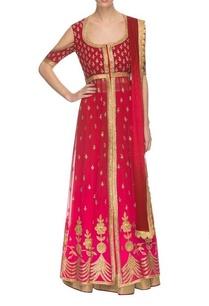 pink-maroon-ombre-lehenga-set