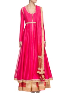 fuchsia-pink-sequin-and-thread-embellished-anarkali-set