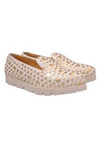 white-gold-basket-weave-slip-on-shoes