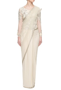 ivory-sequin-embellished-sari-gown