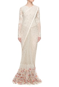 ivory-fishtail-embellished-sari-gown