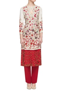 white-red-layered-kurta-with-fitted-pants