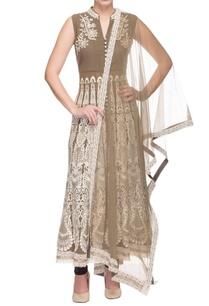 brown-embroidered-kurta-with-pants-dupatta