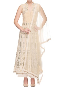 cream-embroidered-kurta-with-pants-dupatta