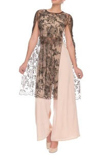 peach-and-black-embellished-crop-top-and-palazzo-set-with-a-cape