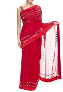 red-embellished-sari-and-blouse