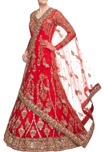 cherry-red-embroidered-anarkali-gown
