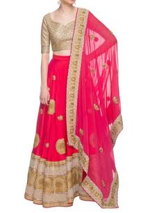 coral-pink-gold-embellished-lehenga-set