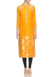 orange-silk-floral-embroidered-kurta