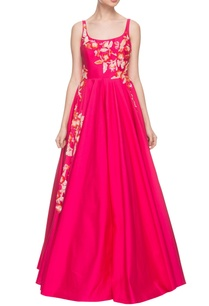 hot-pink-sequin-embroidered-gown