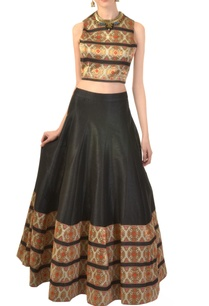 black-ivory-zari-work-crop-top-skirt