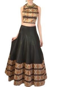 black-ivory-zari-work-crop-top-skirt