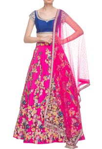hot-pink-royal-blue-embellished-lehenga-set
