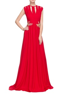 cherry-red-gown-with-3d-floral-embellishments