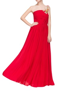ruby-red-tube-gown-with-3d-floral-strap