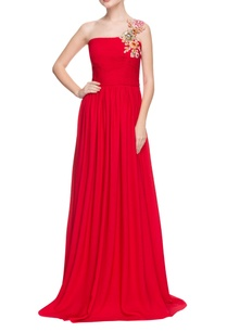 red-tube-gown-with-floral-sequin-applique-strap