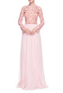 baby-pink-white-embroidered-gown