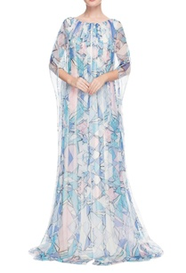 blue-white-geometric-printed-kaftan-gown